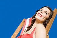 Woman in a deckchair