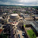 Cork City, Co Cork, Ireland, Aerial view of Firkin Crane Centre and Old Butter Market