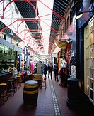 Great George's Street Market, Dublin City, Ireland, Interior of Irish market
