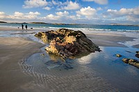 Glassillaun, Co Galway, Ireland, Rock strata along Glassillaun beach