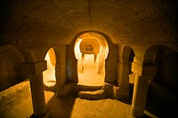 Nevsehir, Cappadocia, Turkey, Church in ancient underground city