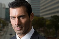 Head shot of a suited businessman