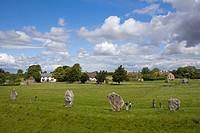 Stone circle, Avebury, Wiltshire County, England