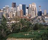 Golfing, Calgary, Alberta, Canada
