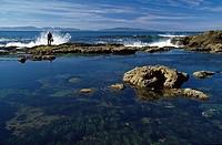 Wave splashing on coast