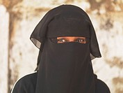 Muslim woman with head covering, Kenya, Africa