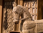 Horse sculpture, Jaipur, Rajasthan, India