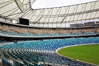 Seating inside the 2010 World Cup stadium Durban, Kwazulu Natal, South Africa