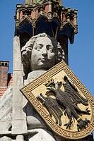 Statue of Roland 1404  Marktplatz  Bremen  Germany