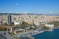 aerial view,Barcelona  Catalonia  Spain