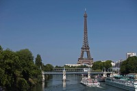 River Seine and Eiffel Tower, Paris, France, Europe
