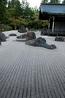 Buddhist monastery and rock garden  Koya-san, Wakayama Prefecture, Japan