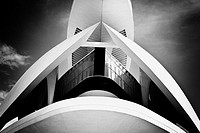 Palacio de las Artes Reina Sofia, City of Arts and Sciences by Santiago Calatrava, Valencia. Comunidad Valenciana, Spain