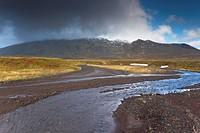 Mount Snaefellsjokull, 1446m high volcano covered by ice, Snaefellsjokull National Park, Snaefellsnes Peninsula, Iceland, Polar Regions