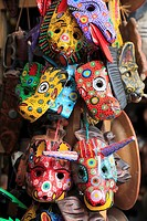Masks, Handicraft Market, Antigua, Guatemala, Central America