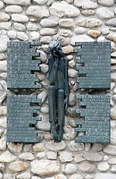 Polish memorial at Dachau concentration camp, Dachau, Bavaria, Germany, Europe