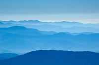 Amazing view from Clingman´s Dome, Great Smoky Mountains National Park, Border of North Carolina and Tennessee