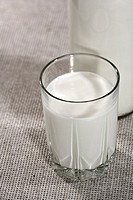 Fresh white milk on the table  Cuisine still life