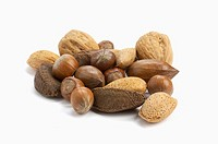 Mixed nuts - walnuts, brazils, almonds  pecan and hazelnuts