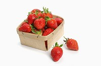 Punnet of fresh strawberries