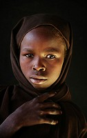 portraits of Sudanese refugees in Chad
