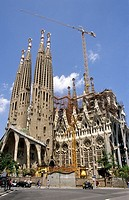 La Sagrada Familia . Barcelona. Spain