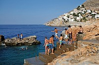 'Hydroneta' swimming area, Hydra island, Greece