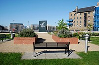 Hermitage Riverside Memorial Garden in Wapping, London, England  The garden commemorates the civilians who died in the London blitz bombings which com...