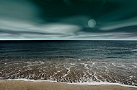 Picture of a night beach landscape
