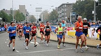 Marathon in Amsterdam, The Netherlands