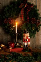 Christmas Wreath with Nutcracker