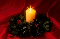 Candle Inside Wreath