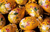 Wooden Egg Ornaments