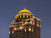 Dome on top of modern apartment building