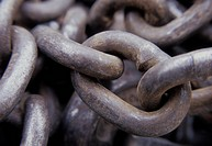 Close_up of a metal chain