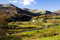 cumbria, england, langdale pikes in lake district national park