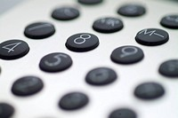 Close_up of a keypad of a calculator