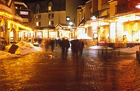 Whistler Village at night