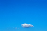 A Single Cloud In An Otherwise Clear Blue Sky