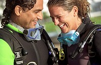 Laughing Scuba Divers
