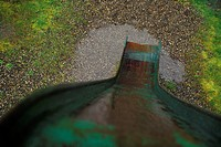 View From The Top Of A Wet Slide