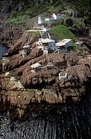 Aerial of St Johns, Newfoundland, Canada