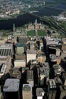 Aerial of Ottawa, Ontario, Canada