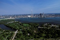 Aerial of Downtown Toronto, Ontario