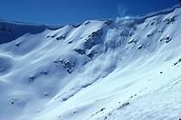 avalanche control, 5 of series of 6, Marmot Basin, Jasper, Alberta, Canada