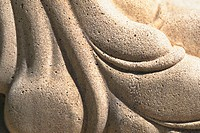 Close_up of a carved stone surface