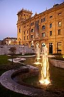 Teatro Victoria Eugenia theatre and Reina Regente gardens, Donostia, San Sebastian, Gipuzkoa, Euskadi, Spain