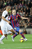 Barcelona, Camp Nou Stadium, 06/02/2010, Spanish League, FC Barcelona vs. Getafe CF, Andrés Iniesta