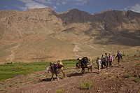 On trekking in the Central High Atlas of Morocco. From the Vallée de Aït Bouguemez to the Tesaout_gorge.