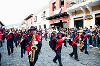 Independence Day Parade on 15 September in Antigua Guatemala
